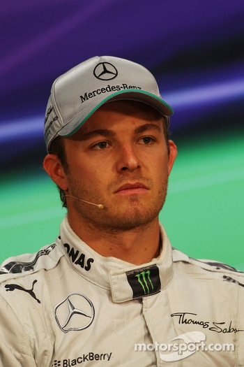 Nico Rosberg, Mercedes AMG F1 in the FIA Press Conference