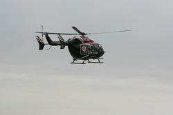 Green flag arrives via helicopter