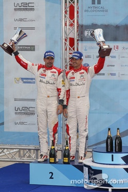 Second place Daniel Sordo and Carlos del Barrio, Citroen DS3 WRC, Citroën Total Abu Dhabi World Rally Team