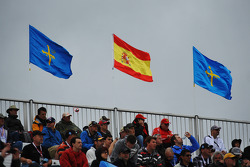 Flags fly over the circuit