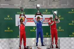 Coppa Shell podium: winner Henrik Hedman, second place Ugo Colombo, third place Marc Muzzo
