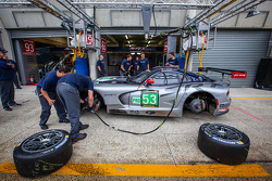Pit stop practice for #53 SRT Motorsports Viper SRT GTS-R
