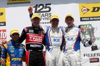 Round 10 Podium: 1st Jason Plato, 2nd Sam Tordoff, 3rd Gordon Shedden and Independent Winner Andrew Jordan