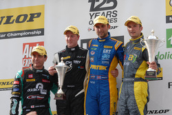 Round 12 Podium: 1st Andrew Jordan, 2nd Colin Turkington, 3rd Adam Morgan, Jack Sears Trophy Winner Liam Griffin