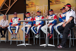 IMSA Performance Matmut team drivers Raymond Narac, Jean-Karl Vernay, Christophe Bourret, Pascal Gibon, Patrice Milesi