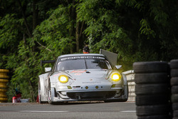 #77 Dempsey Racing - Proton Porsche 911 GT3-RSR: Patrick Dempsey, Joe Foster, Patrick Long after a spin