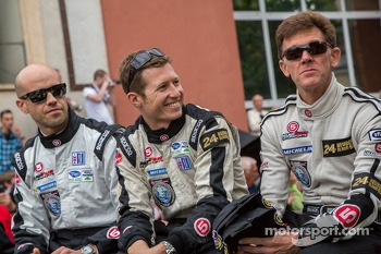 Scott Tucker, Ryan Briscoe, Marino Franchitti