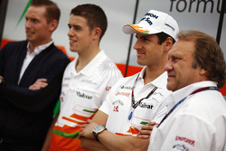 Jordy Cobelens, CEO TW Steel; Paul di Resta, Sahara Force India F1; Adrian Sutil, Sahara Force India F1 and Robert Fernley, Sahara Force India F1 Team Deputy Team Principal.
