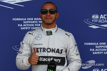 Pole for Lewis Hamilton, Mercedes AMG F1