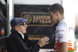 Jackie Stewart, with Paul di Resta, Sahara Force India F1
