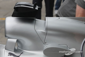 Mercedes AMG F1 W04 engine cover detail