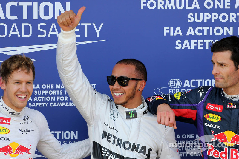 Sebastian Vettel, Red Bull Racing, Lewis Hamilton, Mercedes Grand Prix and Mark Webber, Red Bull Racing