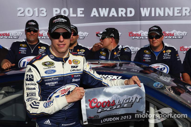 Polesitter Brad Keselowski, Penske Racing Ford