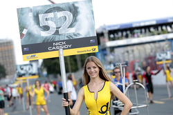 Grid girl of Nick Cassidy