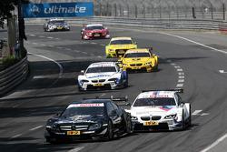 Roberto Merhi, Mercedes AMG DTM-Team HWA DTM Mercedes AMG C-Coupe and Martin Tomczyk, BMW Team RMG BMW M3 DTM