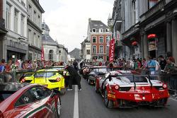 The parade through town