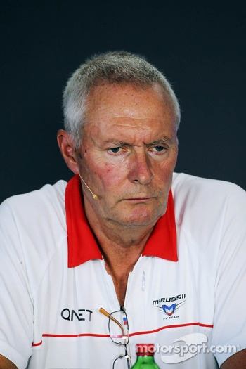 John Booth, Marussia F1 Team Team Principal in the FIA Press Conference