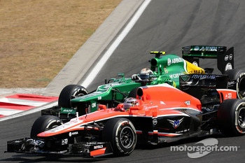 Jules Bianchi, Marussia Formula One Team  and Giedo van der Garde, Caterham F1 Team