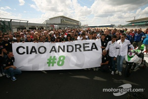 Teams, friends and family gather to remember Andrea Antonelli