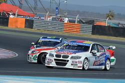 René Münnich, SEAT LeonWTCC, Münnich Motorsport, Mehdi Bennani, BMW E90 320 TC, Proteam Racing and Franz Engstler, BMW E90 320 TC, Liqui Moly Team