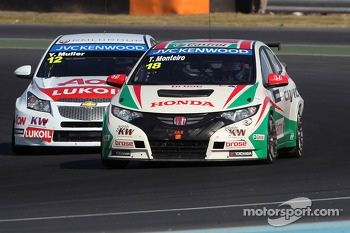 Yvan Muller, Chevrolet Cruze 1.6T, RML and Tiago Monteiro, Honda Civic Super 2000 TC, Honda Racing Team Jas