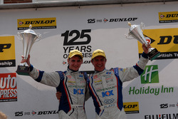 MG Duo Jason Plato and Sam Tordoff celebrate Round 16 1,2