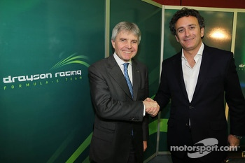 Lord Paul Drayson, Team Principal of Drayon Racing, and Alejandro Agag, CEO of Formula E Holdings