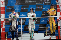 Podium from Left: Jordan King, Jazeman Jaafar and Antonio Giovinazzi