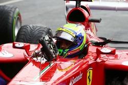 Felipe Massa, Ferrari F138 in parc ferme