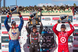 Justin Wilson, Will Power, Dario Franchitti