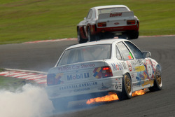 Kelvin Fletcher, Vauxhall Cavalier catches fire