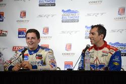 Stefan Wilson, Dale Coyne Racing Honda and Justin Wilson, Dale Coyne Racing Honda