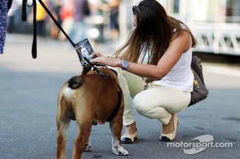 Roscoe, the dog owned by Lewis Hamilton, Mercedes AMG F1
