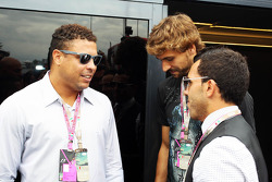 Ronaldo, Former Football Player, with Carlos Tevez, Juventus FC Football Player, and Fernando Llorente, Juventus FC Football Player