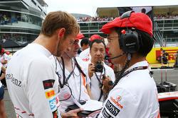 Jenson Button, McLaren on the grid