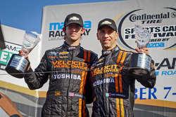 Overall winners Max Angelelli, Jordan Taylor