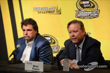 Brian France, chairman & CEO of NASCAR, and Mike Helton, president of NASCAR