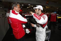 Ernst Moser, team boss Audi Sport Team Phoenix and Miguel Molina
