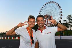 Tiago Monteiro, Honda Civic Super 2000 TC, Honda Racing Team Jas and his wife Diana