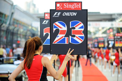 Grid girl for Max Chilton, Marussia F1 Team