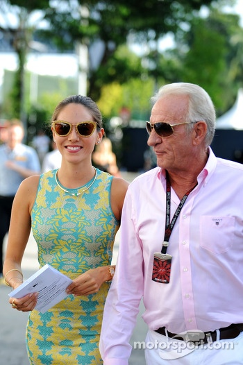 Jessica Michibata, with John Button