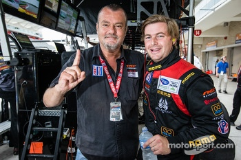 NGT Motorsport team owner Ramez Wahab and Henrique Cisneros