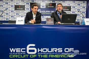 FIA WEC press conference: ACO President François Fillon and FIA WEC CEO Gérard Neveu