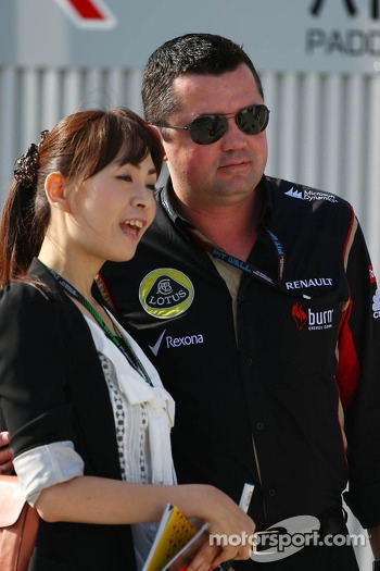Eric Boullier, Lotus F1 Team Principal with a fan