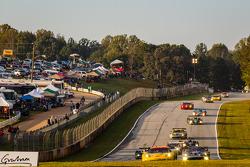 #3 Corvette Racing Chevrolet Corvette C6 ZR1: Jan Magnussen, Antonio Garcia, Jordan Taylor leads a group of cars