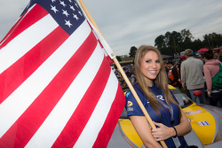 SRT Motorsports flag girl