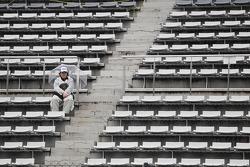 A lone race fan