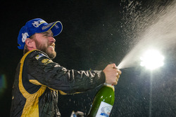 P1 podium: champagne for Nick Heidfeld