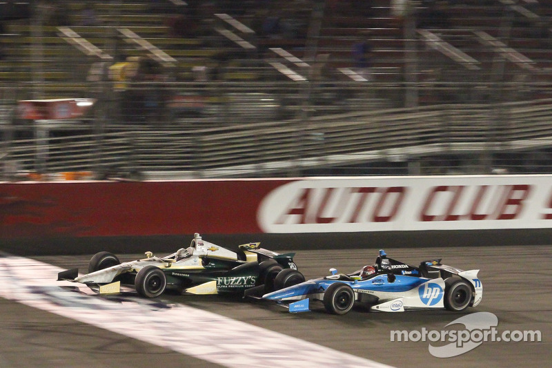 Ed Carpenter, Ed Carpenter Racing Chevrolet and Simon Pagenaud, Schmidt/Hamilton Motorsports Honda