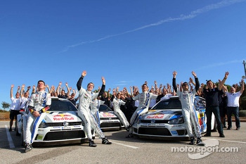Volkswagen team celebrates